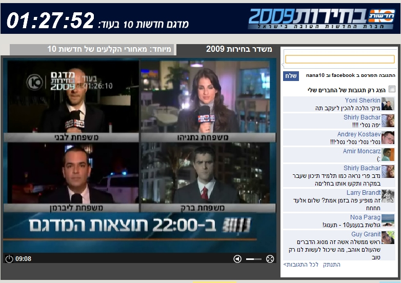 Net: Facebook Connect & Israeli Elections